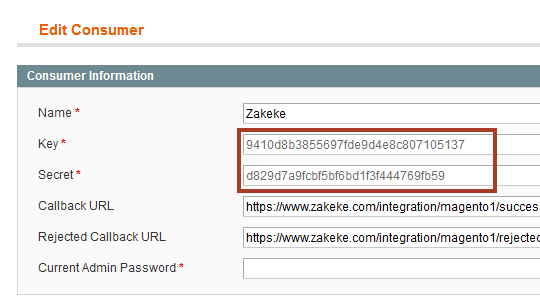 Menu to get to the Magento Ingegrations Page