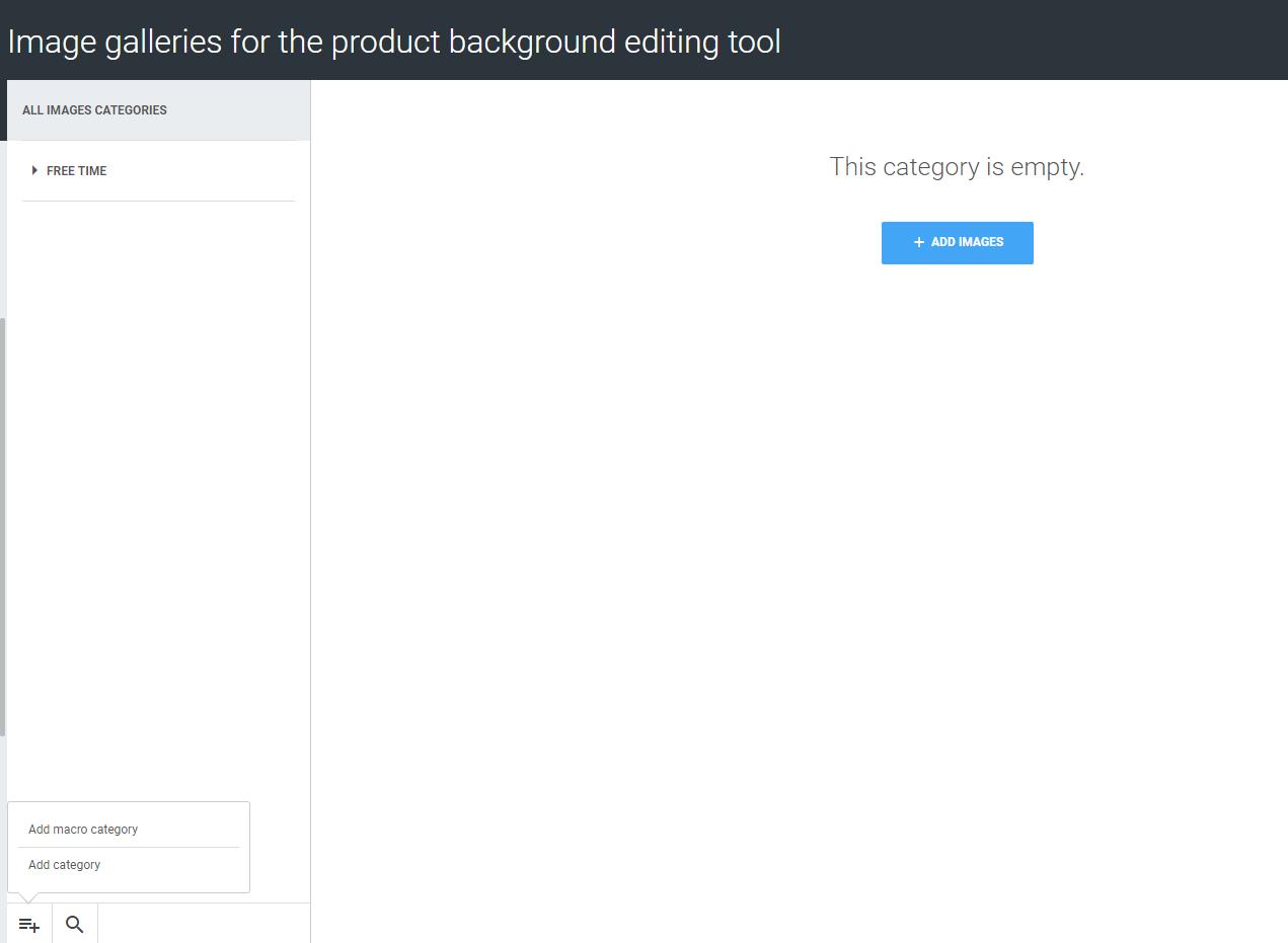 Background customizer tool