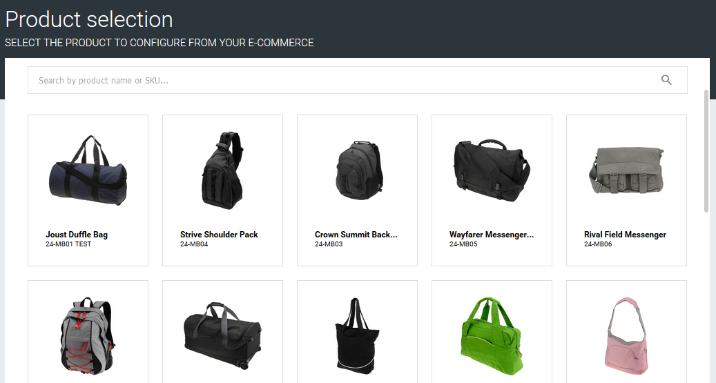 Available products into your e-commerce