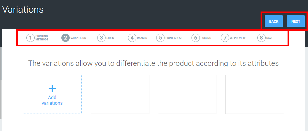 Window of product configuration