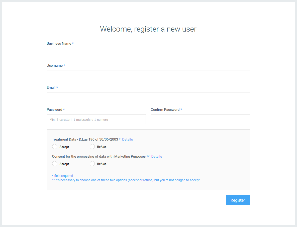 Registration step