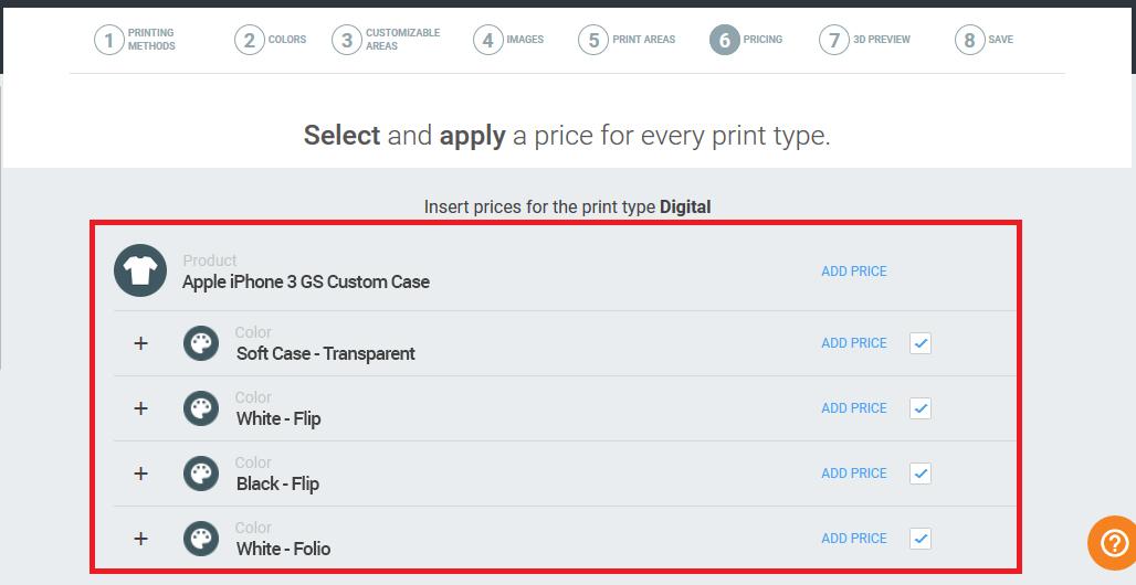 Hierarchy tree pricing