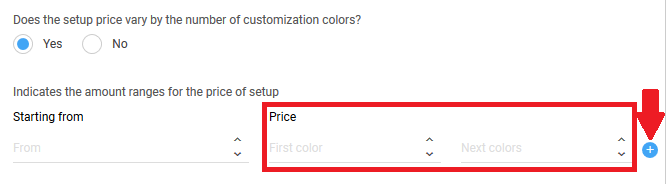 Selection of variabe costs - colors