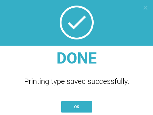 Completion printing method