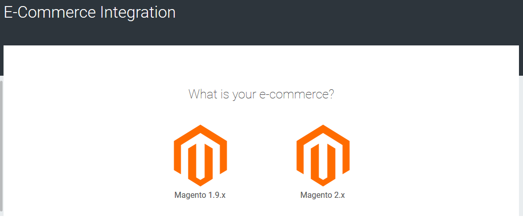 View of e-commerce choice