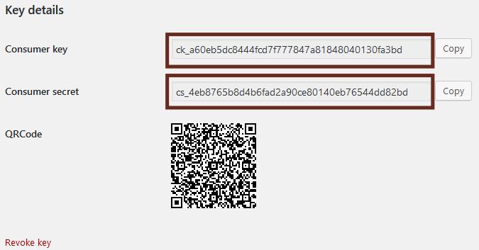 Take note of the Zakeke API keys